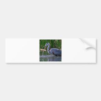 Heron Splash Bumper Sticker