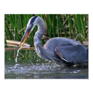 Heron Splash Personalized Invitation