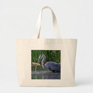 Heron Splash Large Tote Bag