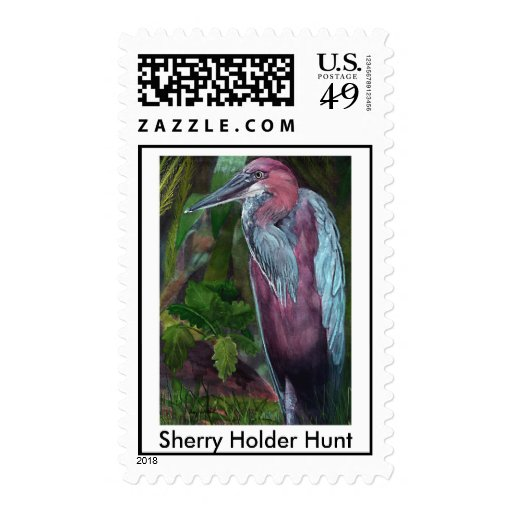 Heron Standing Alone 2 Postage