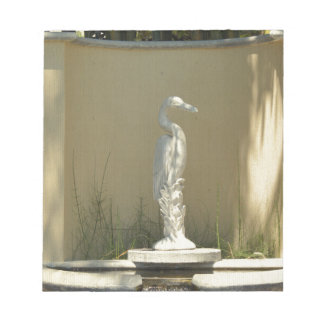 Heron Statue Notepad