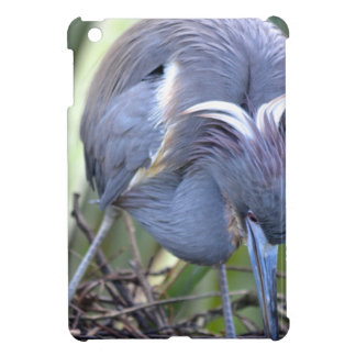 Heron Strengthening Her Nest iPad Mini Covers