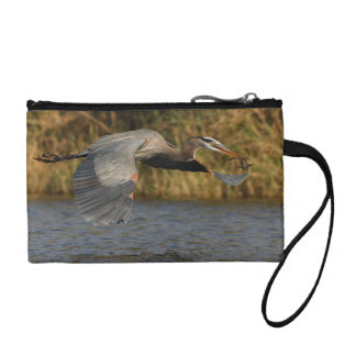 Heron with Fish Change Purse
