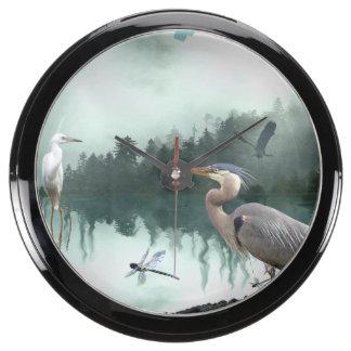 Herons and Egrets Wildlife Nature Sanctuary Aquarium Clocks