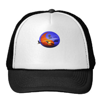 herons and sunset trucker hat