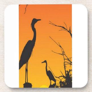 Herons resting design coasters
