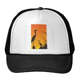 Herons resting design trucker hat