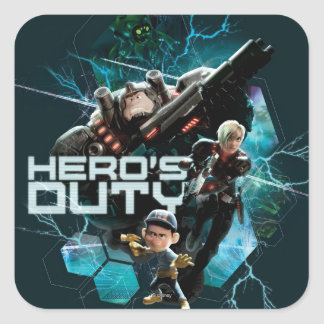 Hero's Duty 1 Square Sticker
