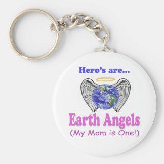 Hero's - Mom is Earth Angel Keychain