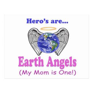 Hero's - Mom is Earth Angel Postcard