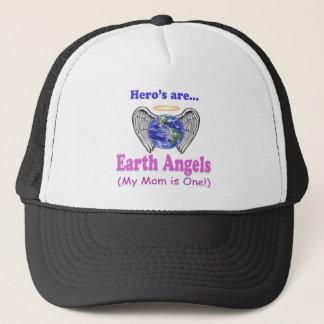 Hero's - Mom is Earth Angel Trucker Hat