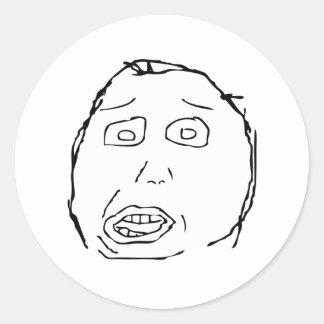 Herp Derp Classic Round Sticker