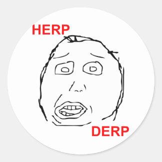 Herp Derp Herp Derping Classic Round Sticker