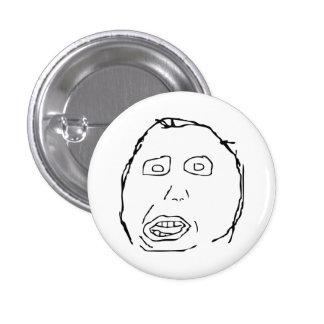 Herp Derp Idiot Rage Face Meme 1 Inch Round Button