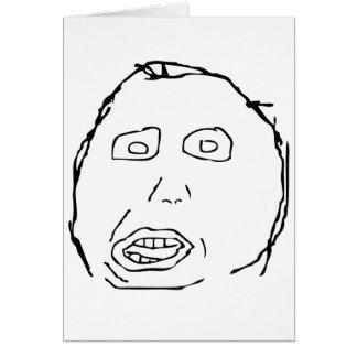 Herp Derp Idiot Rage Face Meme Card