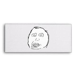 Herp Derp Idiot Rage Face Meme Envelope