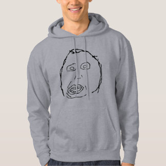 Herp Derp Idiot Rage Face Meme Hoodie