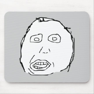 Herp Derp Idiot Rage Face Meme Mouse Pad