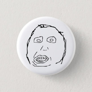 Herp Derp Idiot Rage Face Meme Pinback Button