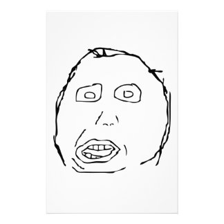 Herp Derp Idiot Rage Face Meme Personalized Stationery