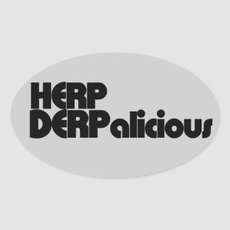 Herp Derp Oval Sticker