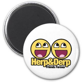 Herp y Derp sonrientes impresionantes Iman