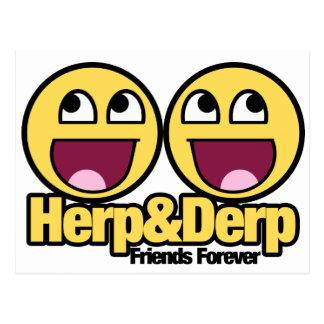 Herp y Derp sonrientes impresionantes Postales