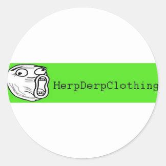 HerpDerpClothing Classic Round Sticker