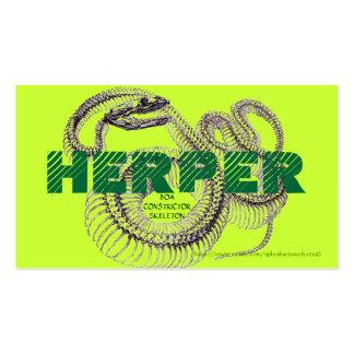 """HERPER"" BUSINESS CARDS"