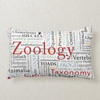 Herpetología en tipografía cojines