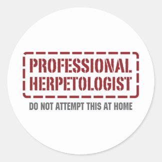 Herpetologist profesional etiquetas redondas