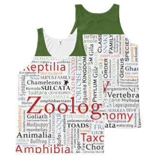 Herpetology in Typography All-Over-Print Tank Top