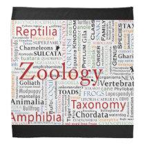 Herpetology in Typography Bandana