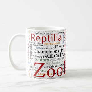 Herpetology in Typography Coffee Mug