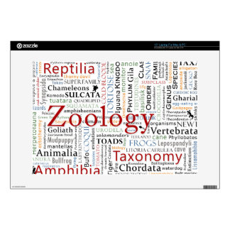 """Herpetology in Typography Decal For 15"""" Laptop"""