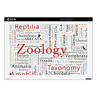 """Herpetology in Typography Decal For 17"""" Laptop"""