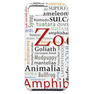 Herpetology in Typography iPhone SE/5/5s Case