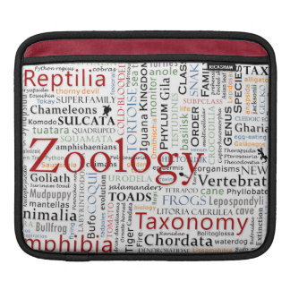 Herpetology in Typography Sleeves For iPads