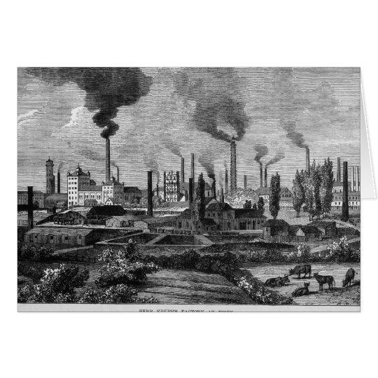 Herr Krupp's Factory in Essen, Germany Card