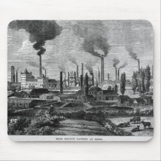 Herr Krupp's Factory in Essen, Germany Mouse Pad