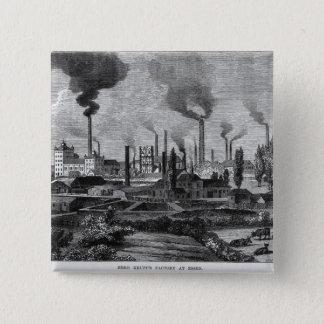 Herr Krupp's Factory in Essen, Germany Pinback Button