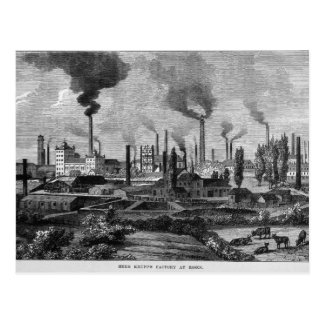 Herr Krupp's Factory in Essen, Germany Postcard