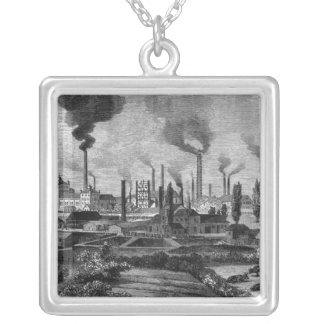 Herr Krupp's Factory in Essen, Germany Silver Plated Necklace