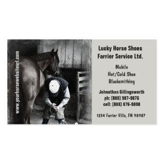 Herrador - servicios de herradura del enganche del plantillas de tarjeta de negocio
