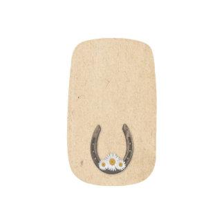 Herradura con arte del clavo de las margaritas pegatinas para manicura