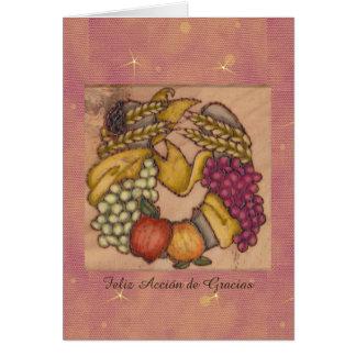 Herradura de Acción de Gracias Arriba Card
