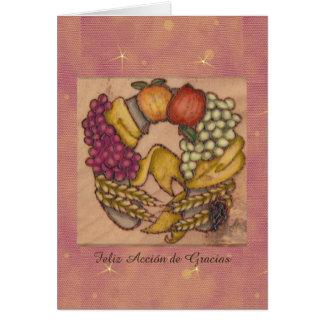 Herradura de Acción de Gracias Hacia Abajo Card