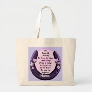 Herradura de la púrpura de la serenidad bolsa de tela grande