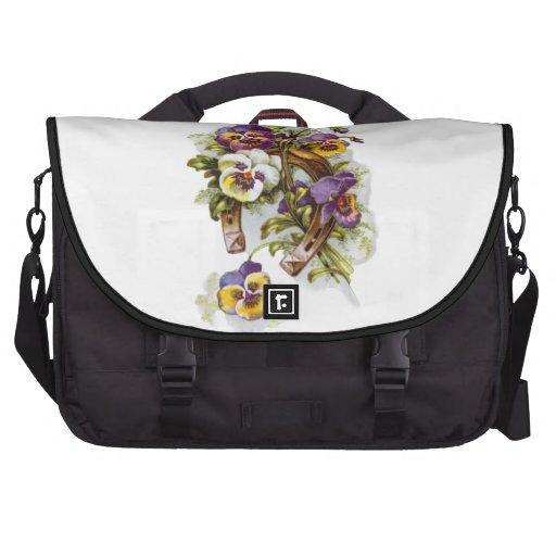 Herradura floral bolsas para portatil