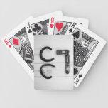 Herraduras aherrumbradas baraja cartas de poker
